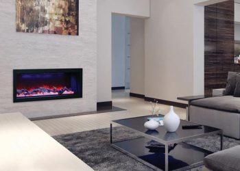 Deep Full Frame Electric Fireplace – BI-50-DEEP – Size: 50″