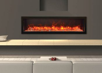 Deep Indoor/Outdoor Electric Fireplace – BI-60-DEEP – Size: 60″