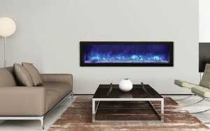 modern glass electric fireplaces