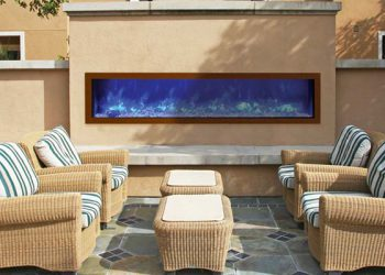 Slim Indoor or Outdoor Electric Fireplace – BI-72-SLIM – size 72″