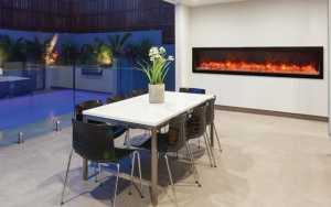 Toronto Modern Glass Electric Fireplaces