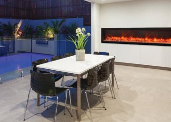 Deep Indoor or Outdoor Electric Fireplace – BI-88-DEEP – Size: 88″