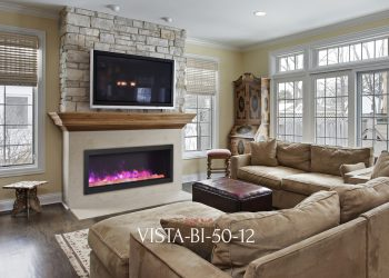 "Sierra Flame Electric Fireplace – VISTA-BI-50-12 – sizes: 50"", 60"",72"""