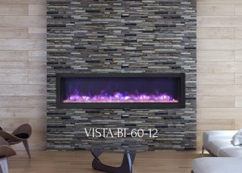 "Electric Fireplace VISTA-BI-60-12 – Sizes: 50"", 60"", 72"""