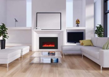 Small Electric Fireplace Insert – INSERT-26-3825-BG – Size: 38″