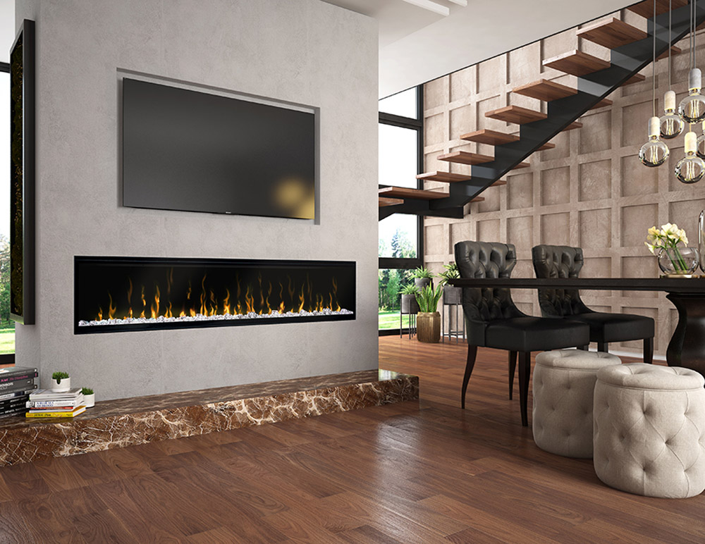 electric fireplaces demo