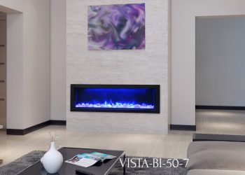 "Amantii Electric Fireplace – VISTA-BI-50-7 – Sizes: 50"", 60"", 72"""