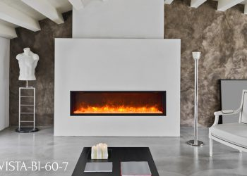 "Amantii Electric Fireplace VISTA-BI-60-7 – Sizes: 50"", 60"",72"""