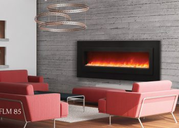 Linear Electric Fireplace – WM-FML-85 – Size 85″ x 27″