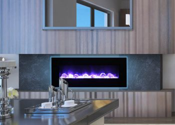 Electric Fireplace WM-FM-48-5823-BG – Size: 48″
