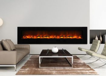 Wall Mount Electric Fireplace – WM-FM-88-10023-BG – Size: 88″