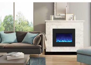 Zero Clearance Electric Fireplace – ZECL‐26‐2923-BG – Size: 29 1/4″ x 23″
