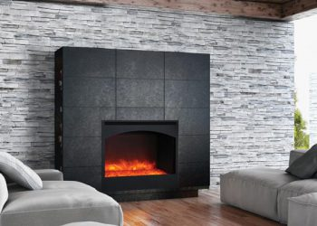Zero Clearance Electric Fireplace – ZECL-31-3228-STL-ARCH – Size:32″