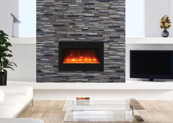 Zero Clearance Electric Fireplace – ZECL-33-3624-BG – Size: 33″
