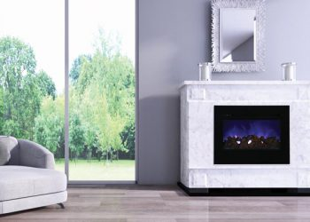 Electric Fireplace – ZECL‐30‐3226‐FLUSHMT-BG – Size: 30″