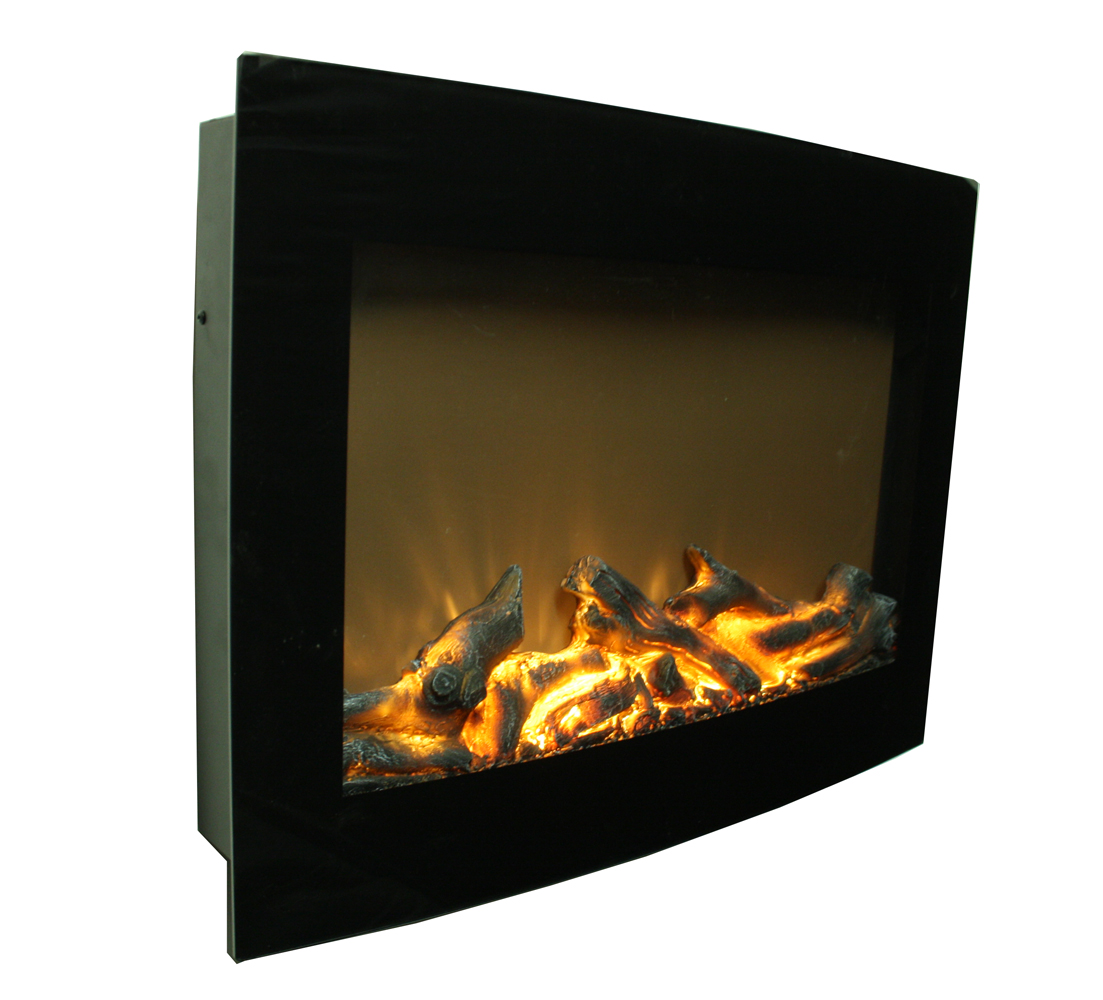 Daniel 24 curved wall mount now with led electric for 24 wall mount electric fireplace
