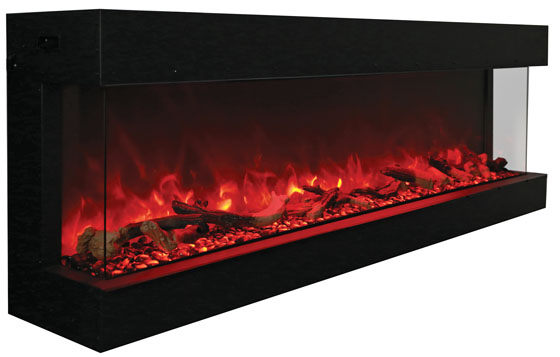 72 Tru View Xl 3 Sided Electric Fireplace Electric