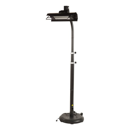 1500 Watt Black Telescopic Infrared Patio Heater
