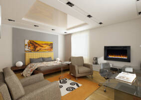 "40"" Allusion recessed linear electric fireplace"