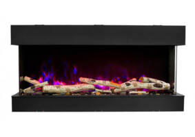 "30"" 3 sided glass fireplace 30-TRV-slim"