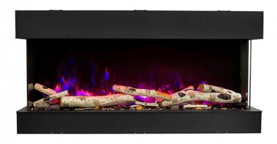 "30"" 3 sided glass fireplace 30-TRV-slim"