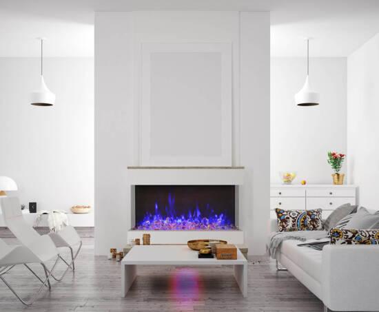 3 sided glass fireplace 50-TRV-XT-XL Room