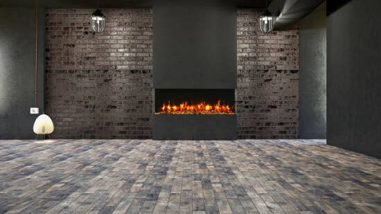 3 sided glass fireplace 60-TRV-slim Room