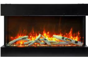 "72"" - 3 sided glass fireplace 72-TRV-slim"