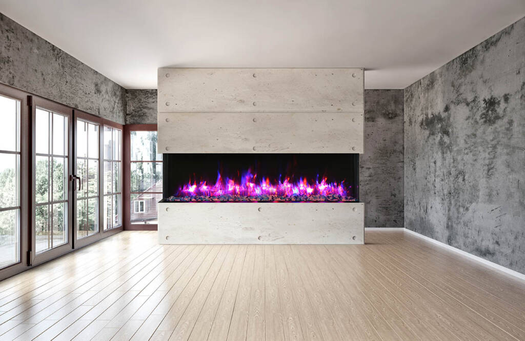 recessed electric fireplace