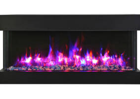 "50"" - 3 sided glass fireplace 50-TRV-slim"