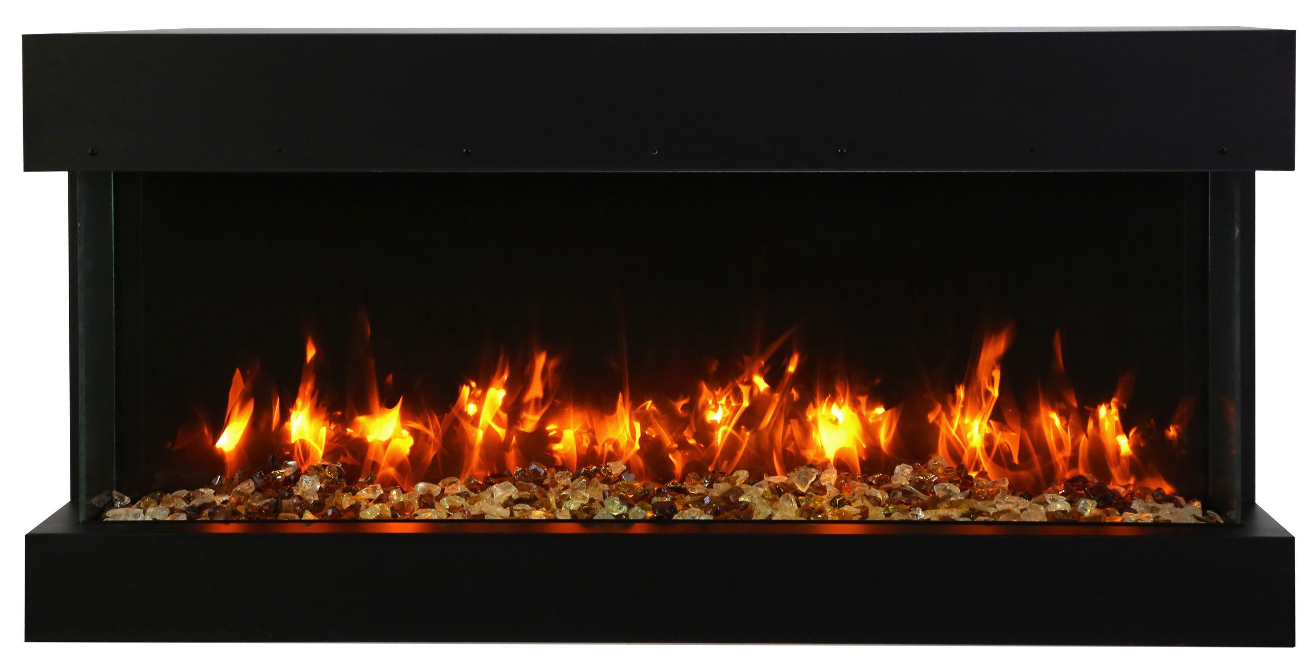 "40"" - 3 sided glass fireplace 40-TRV-slim"