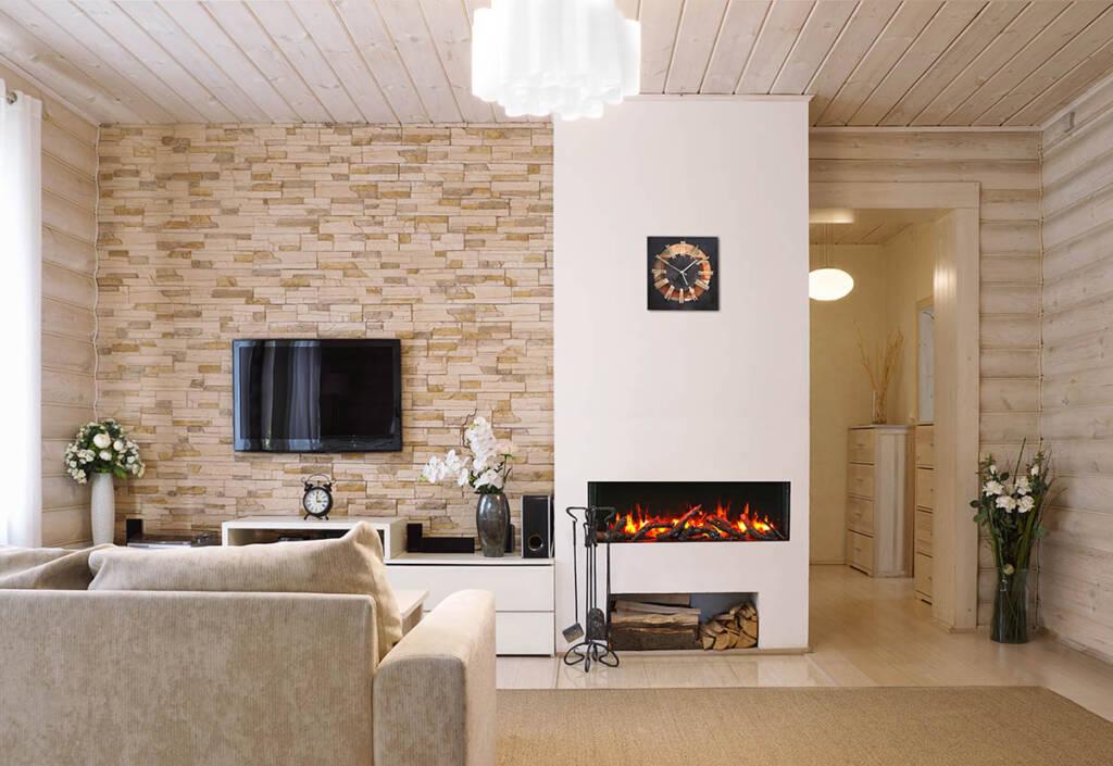 "50"" - 3 sided glass fireplace 50-TRV-slim"