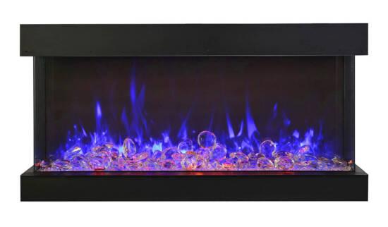 "40"" - 3 sided glass fireplace 40-TRV-XT-XL"