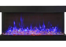 "40"" 3 sided glass electric fireplace Built-in only 40-TRU-VIEW-XL"