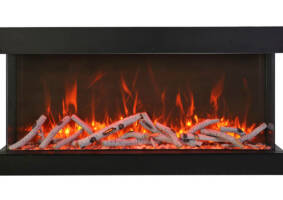 "88"" - 3 sided glass fireplace 88-TRV-XT-XL"