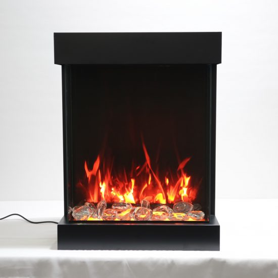 "25"" - 3 sided glass fireplace CUBE-2025WM"