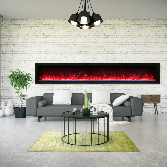 """100"""" Electric Built-in Fireplace SYM-100-B"""