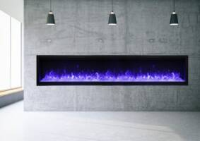 "100"" Extra Tall Electric Fireplace Built-in SYM-100-XT"