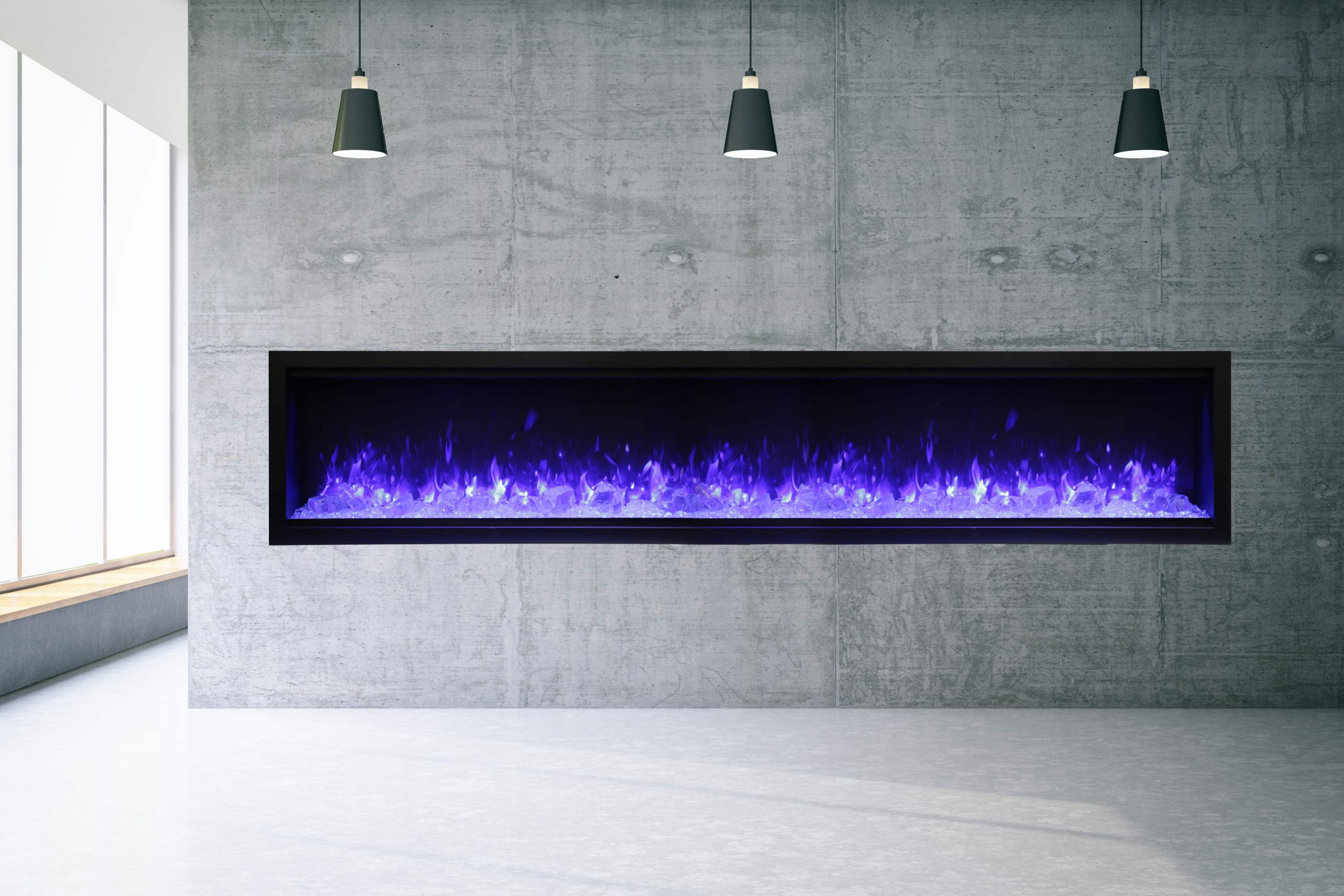 """100"""" Extra Tall Electric Fireplace Built-in SYM-100-XT"""