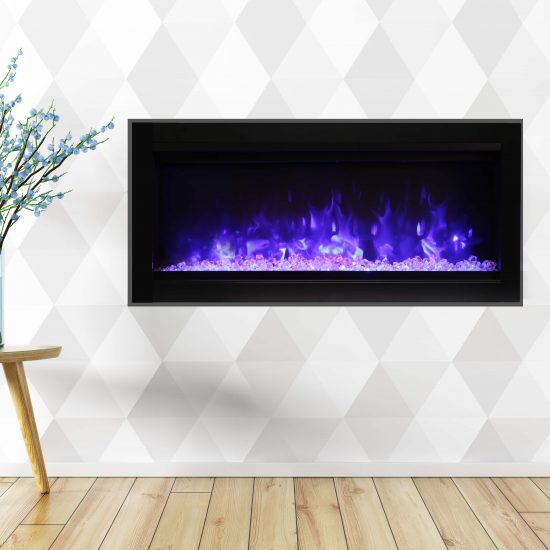 "34"" Electric Fireplace built-in with glass SYM-34-B"