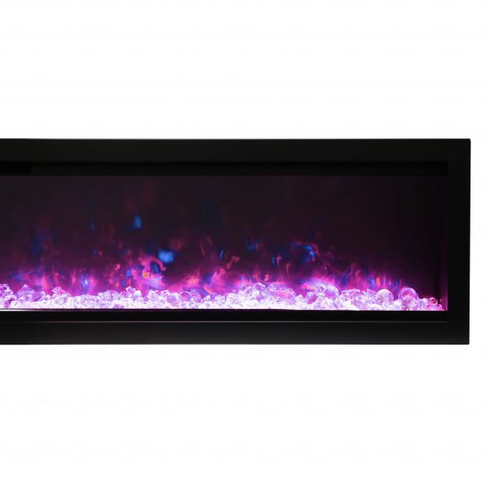 """42"""" Electric Fireplace built-in with glass SYM-42-B"""