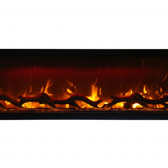 "60"" Electric Built-inFireplace with log and glass SYM-60"