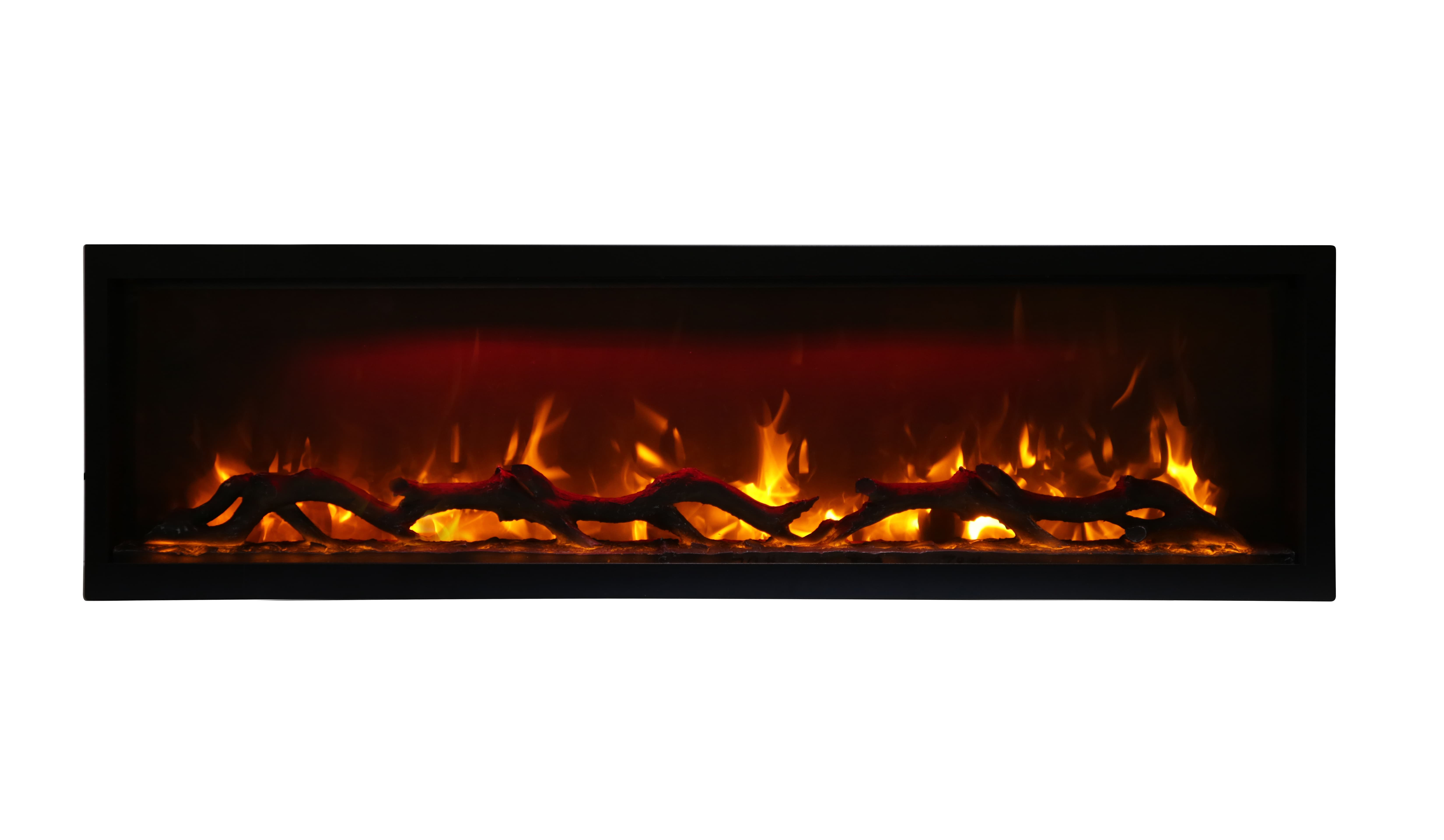 """60"""" Electric Built-inFireplace with log and glass SYM-60"""
