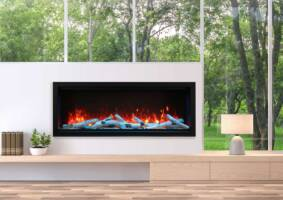 """60"""" Extra Tall Electric Built-in Fireplace SYM-60-XT"""