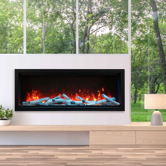 "60"" Extra Tall Electric Built-in Fireplace SYM-60-XT"