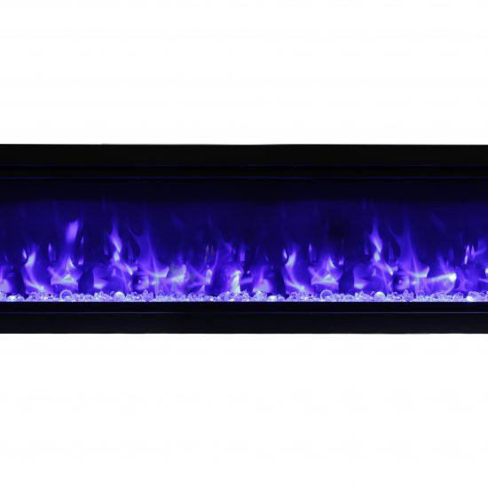 "74"" Electric Built-in Fireplace with log and glass SYM-74"