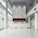 """74"""" Electric built-in Fireplace SYM-74-B"""