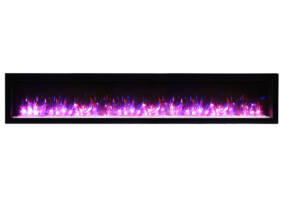 "88"" Electric Fireplace Built-in with log and glass SYM-88"
