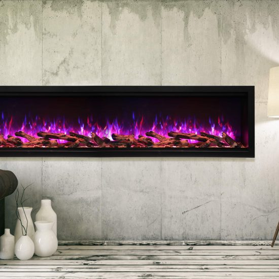 "88"" Extra Tall Electric Built-in Fireplace SYM-88-XT"