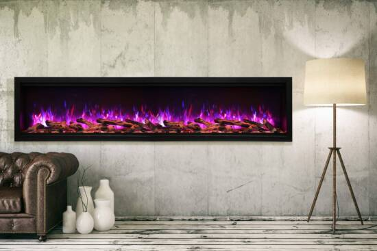 """88"""" Extra Tall Electric Built-in Fireplace SYM-88-XT"""